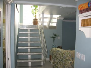 Stairway to upper level