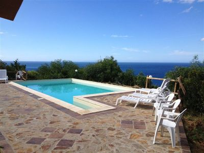 Holiday house with shared pool sea views, 5 p. l.
