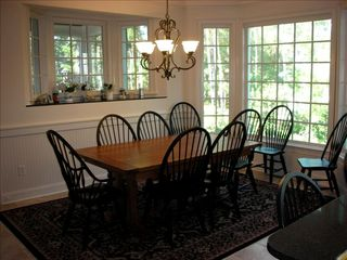 Seabrook Island house photo - Dining area: table can seat up to 8