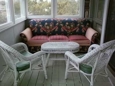 Sleeping Porch off Living Room wih Sleep Sofa