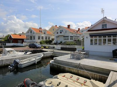 Cosy house in the Swedish archipelago with boat and private dock in Marstrand