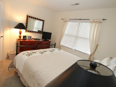 Bedroom 2 with queen size bed and flat screen TV