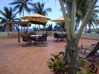 Arecibo villa photo - Over 1,300 sqf. beach front Terrace , great privacy & view !