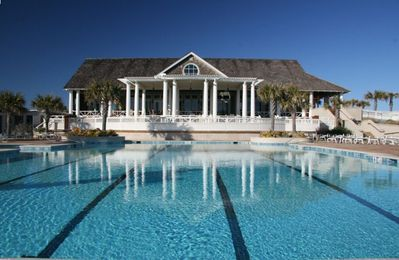 Enjoy a drink or dinner while the family enjoys The Shoals Club Pool