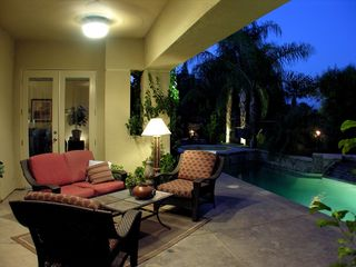 Palm Springs house photo - Outdoor living room near pool
