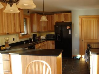 West Wardsboro house photo - Hickory Country Kitchen: VT Soapstone Counters, Tile Flr, Pantry, Glasstop Range