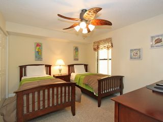 Twin Bedroom Suite with huge HD TV. - Folly Beach condo vacation rental photo