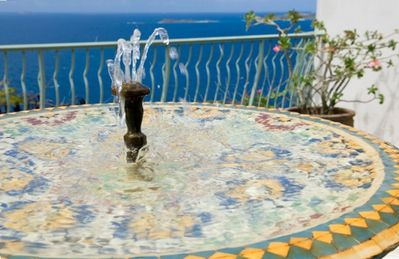 Kismet St.John Virgin Islands - Fountain on lower courtyard