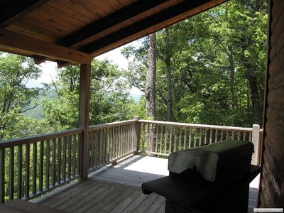 Enjoy the lovely southwest view off the upper deck while you grill and eat!