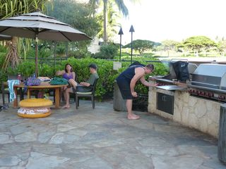 Ko Olina villa photo - Two BBQ areas in the resort