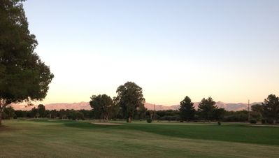 Haven Golf Course 13th fairway with Santa Rita mountain in the background