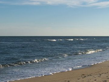Enjoy the sounds of the water lapping up on the beach, smell the salt air!