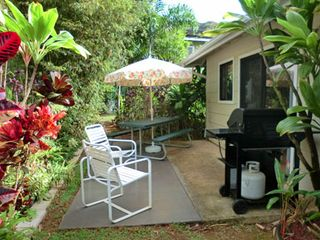 Wailua house photo - Outdoor patio with gas BBQ