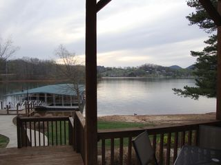 Hiawassee condo photo - Back Porch w/ Dock just down the steps