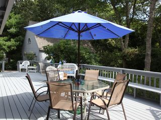 New Seabury house photo - large backyard deck