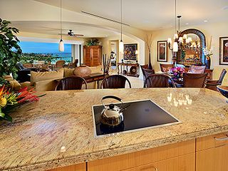 Wailea villa photo - Granite Kitchen Counters in Kitchen with Ocean View