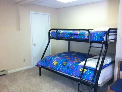 Bellaire / Shanty Creek house rental - additional bunk sleeping space in lower level