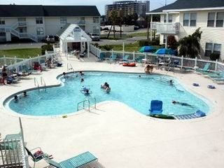 This pool, largest of 5 at Sandpiper Cove, is 150 feet from the condo.