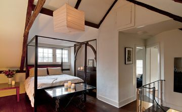 Queen-size bed in loft
