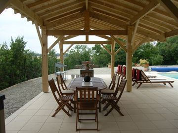 Le Paradis...the 11x5m covered terrace, poolside