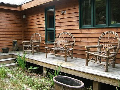 Boone cabin rental - Enjoy listening to the sounds of nature while sitting on the porch.