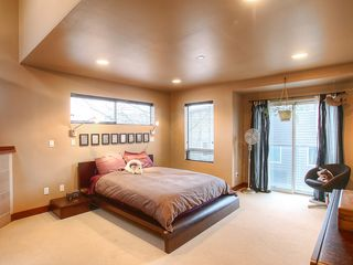 Seattle townhome photo - Master Suite with Juliette Balcony and Fireplace