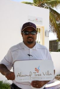 Steven, Almond Tree Villa Manager, Meets you upon arrival to Anguilla