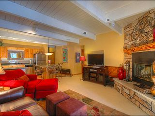 Breckenridge condo photo - Relax by the Fire or Flat Screen TV