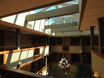 Sunlight through the atrium