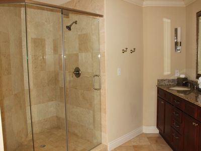 Oversized shower in second master bath