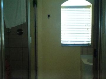 Master bath has separate shower and jacuzzi tub