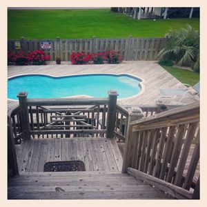 NICE!!! Private pool with secured with child proof gates!