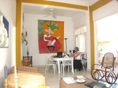 dining room, from the living room; lanai to the right