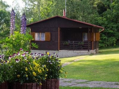 Log Cabins In The Beautiful Highlands Of Zeliv, By A Lake and forest. Oak cabin