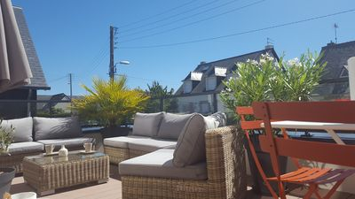 Saint-Malo, apartment, 3 people, terrace near beach and town center.