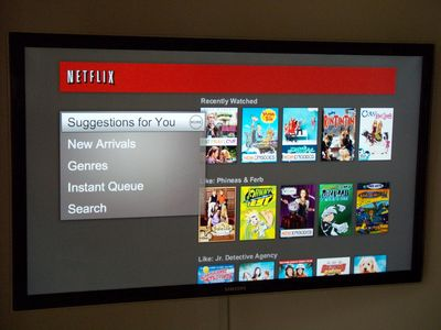 Free streamed Netflix movies on the 46 inch LED HDTV