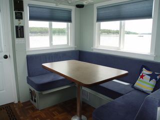 Georgetown house boat photo - The salon table converts to sleep two.