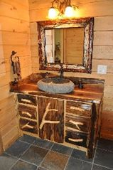 Woodstock lodge photo - East Bathroom - vanity