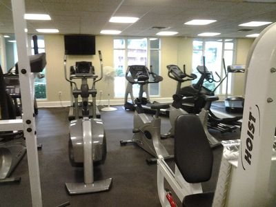 The Azure boasts a top notch fitness center with a view of the Gulf!!!