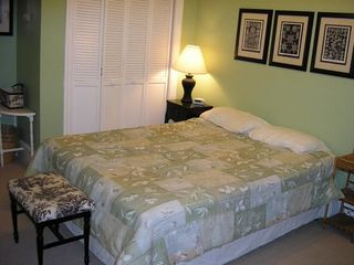 Plymouth house photo - Spacious first floor bedroom with queen bed