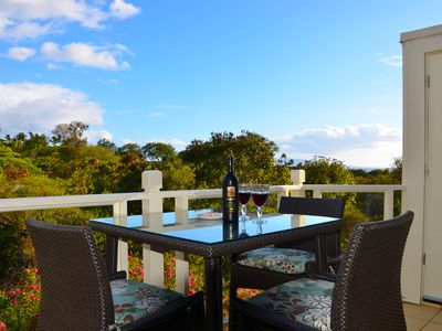 The lanai has new high-top furniture so you can enjoy the views while dining.