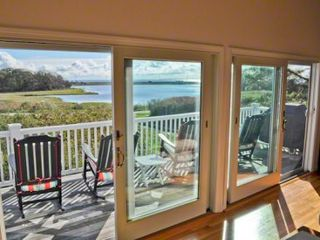 Oak Bluffs cottage photo - The Wall Of Sliding Doors Opens Out From The Living & Dining Areas To The Main Deck