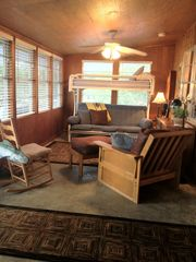 Granite Shoals house photo - Sun Porch/Sleeping area (full & single Futon & twin bunk)