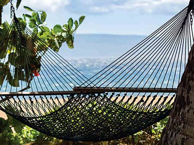 Grab one of the many hammocks around the property and your favorite book & relax