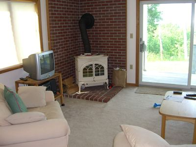 Living room and wood stove
