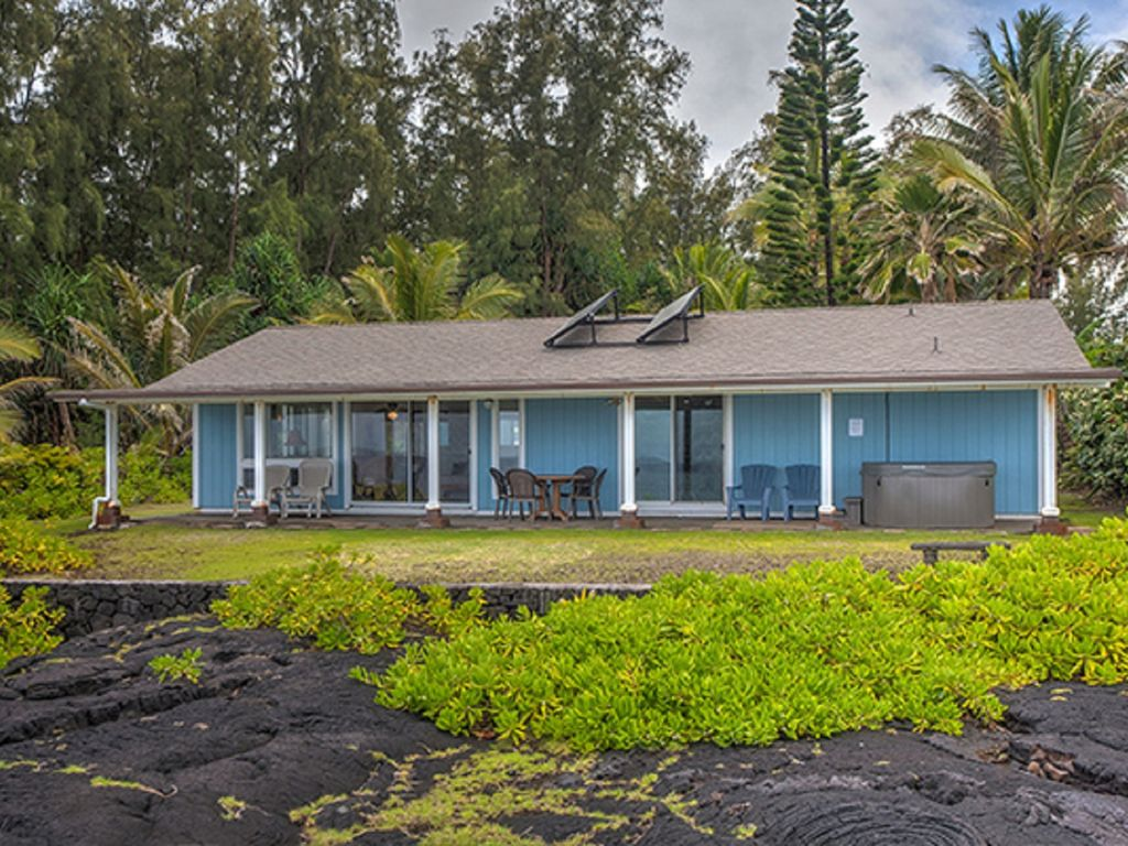 View of Alohahouse from the oceanfront bluff - a most wonderful place to relax!