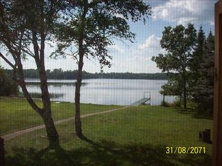 view from the living room. beautiful!!! - Lyman Lake house vacation rental photo
