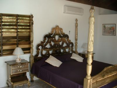 Four-poster bed in the Master Bedroom.