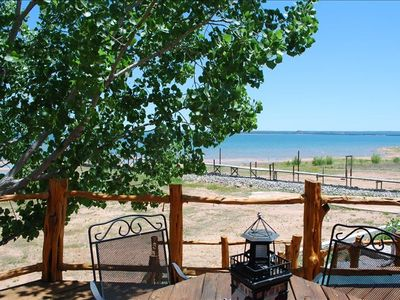 Lake Buchanan house rental - Spectacular view from upper deck no matter what the lake level.