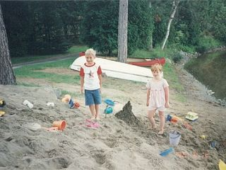 Brant Lake house photo - Huge Sand Pile and Beach